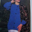 1 Cent USA Shipping Vintage Knitting Pattern Wavy Texture Mock Cardigan Pullover Sweater
