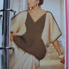Woman's 1980's Baggy Slouchy Pullover Knitted Sweater Vintage Knitting Pattern