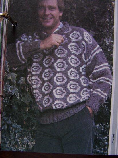 USA 1 Cent S&H Men's Vintage Sweater Knitting Pattern