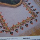 USA 1 Cent S&H Cross Stitch Pattern Thanksgiving Fall Table Runner Cloth