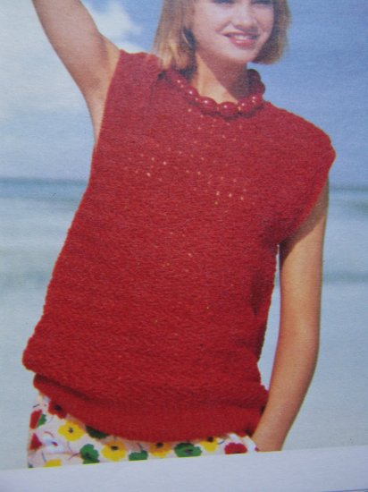 1 Cent USA S&H Vintage Herringbone Sleeveless Top Crochet Pattern