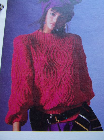 USA 1 Cent Shipping Special Womens Pullover Sweater Vintage Knitting Pattern