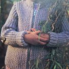 Vintage Knitting Pattern Children's Zip Up Sweater Jacket Coat 3 4 5 6 7 8 9 10 11 12