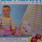 Crochet Pattern Vintage Toddlers 1 2 3 4 Pullover Sweater and Afghan Blanket