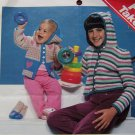 USA 1 Cent S&H Crochet Pattern Winter Hoodie Sweater Jacket Coat Baby & Kids Sizes