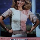 USA S&H 1 Cent Lady's Vintage Crochet Pattern Slipon Sweater