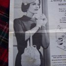 US 1 Penny S&H 60's Vintage Crochet Patterns Beret and Purse Dainty Duo