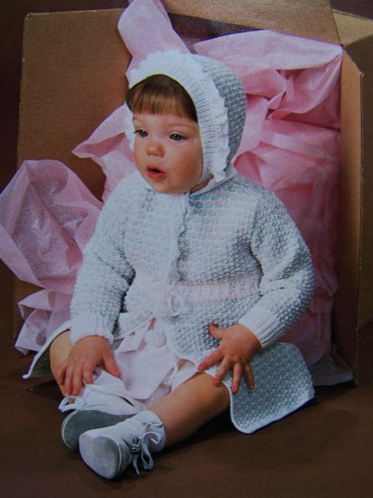 Vintage Crochet and Knitting Patterns for Babies Hoodie Sweater Knit Coat Afghan +