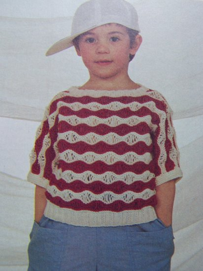 1 Cent USA S&H Boys or Girls Pullover Toddlers Sweater Knitting Pattern 1 2 3 4 5