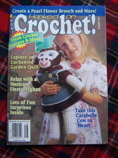 Hooked on Crochet Pattern Book 58 July August 1996 Crocheting Patterns