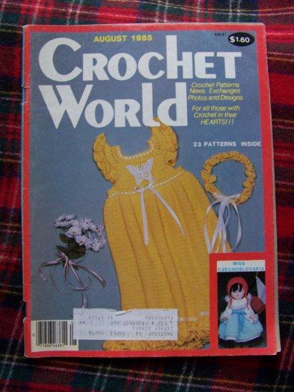 Vintage Crochet World August 1985 Back Issue Pattern Magazine
