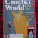 Vintage Crochet World August 1985 Back Issue Pattern Magazine
