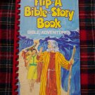 Vintage 1980's Flip A Bible Story Book Adventures Children's Scriptures Stories