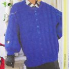 Big Bulky Oversized Ladies Sweater 1980's Knitting Pattern S M L XL XXL