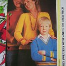 USA 1 Cent S&H V or Crew Neck Pullover Sweaters Knitting Patterns for the Family