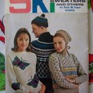 US 1 Cent S&H Vintage Mens & Womens Knitted Ski Sweaters Knitting Patterns Book 174