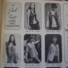 1960's Vintage Hippie Sweater Vests Knitting & Crochet Pattern Book 15 Vest Patterns