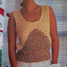 USA 1 Cent S&H Vintage Knitting Pattern Lady's Two Color Knitted Summer Tank Top