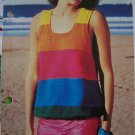 1 Cent USA S&H Misses Vintage Knitting Pattern Sleeveless Sweater Summer Tank Top