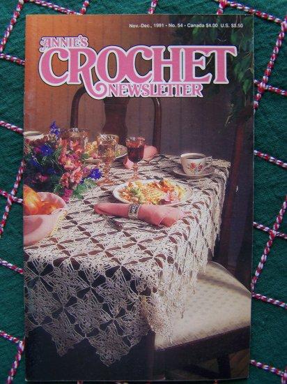 Annie's Attic Crochet Newsletter Pattern book # 54 Nov Dec 1991