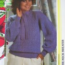 Vintage Knitting Pattern Diamond pattern Tie Neck Misses Sweater USA 1 Cent Shipping