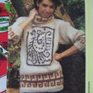 1 Cent S&H US Vintage Knit Pattern Womens Aztec Roll Neck Pullover Sweater