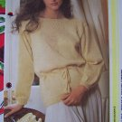 Misses Tunic Top Pearl Trim Knitted Vintage Sweater Pattern USA 1 Cent Shipping