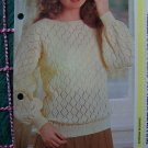 1 Cent USA S&H Vintage Womens Knitting Pattern Pullover with All Over Lace