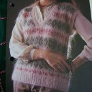 USA 1 Cent S&H Vintage Fair Isle Woman's Knitted Sweater Vest Knitting Pattern