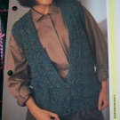1 Cent USA S&H Vintage Ladies Deep Open V Sweater Vest Knitting Pattern
