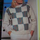1 Cent USA S&H His & Hers Sweaters with Squares and Diamonds Knitting Patterns