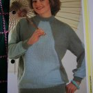 1980's Vintage Knitting Pattern Womens Diagonal Knit Pullover Sweater Pattern