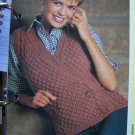 USA 1 Cent S&H Vintage Surplice Wrap Knitted Sweater Vest Knitting Pattern