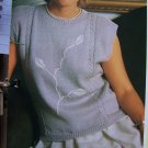 USA 1 Cent S&H Vintage Woman's Sleeveless Top with Embroidery Knitting Pattern
