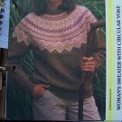 USA 1 Cent S&H  Vintage 1980's Long Sleeve Sweater with Circular Yoke Knitting Pattern