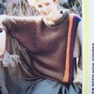 USA 1 Cent Ship Vintage Bulky Mohair Sweater with Side Stripes Knitting Pattern