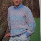 US 1 Cent S&H Men's Pullover Sweater Knitting Pattern Diamonds in Shadow