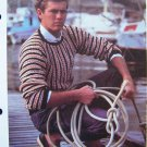 S&H 1 Cent USA Men Vintage Boldly Striped Pullover Sweater Knitting Pattern