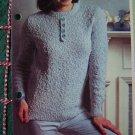 USA 1 Cent S&H Basket Stitch Lady's Sweater Knitting Pattern