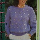 USA 1 Cent S&H Vintage Easy WomensChic Spotted Sweater Knitting Pattern