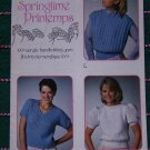 Vintage Misses Knitting Patterns Booklet Open Side Pullover Lacy T Top Honeycomb Puff Sleeve Sweater