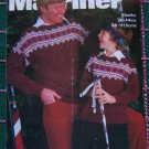 Marriner Vintage Family Knitting Patterns Fair Isle Sweaters XS S M L XL Men Misses Child 1971