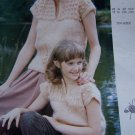 Vintage Mother Daughter Knitting Patterns Emu Eleganza Mistique SS Sweaters 10 Sizes 3372