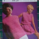 Vintage 1960's Womens Crochet Pattern Mod Sweater Dress & Tunic Top Spinrite 113