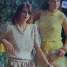 Crochet & Knitted Misses Summer Tops Galaxia Retro Patterns