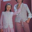 Vintage Knitting Patterns Mother Daughter Vest Wendy Instructions Leaflet 2093