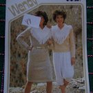 Retro Knitting Pattern Wendy 2083 Fringe Yoke Sweater & Knitted Dress