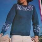 Vintage Womens Fair Isle Sweater Knitting Pattern Wendy 1885