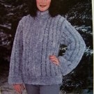 1 Cent USA S&H Anita Hurtig Knitting Pattern Shadow Mink Zip up Jacket