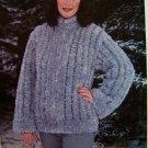 1 Cent USA S&H Anita Hurtig Knitting Pattern Shadow Mink Zip up Jacket